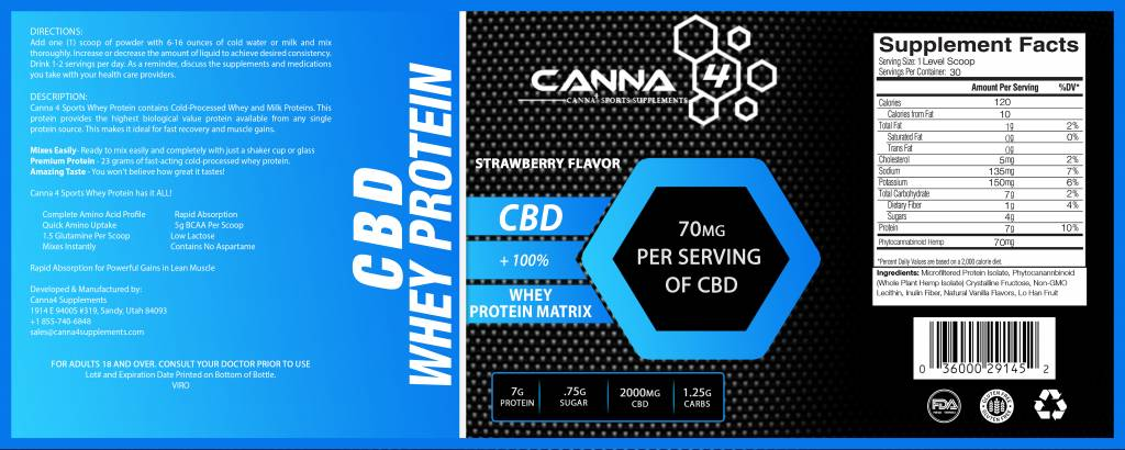 CBD Whey Protein Strawberry